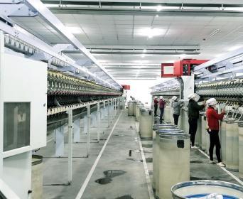 设计规模达30万锭及1000台喷气织机项目于新疆投产!