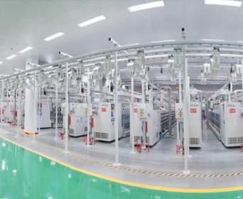 组图聚焦魏桥创业集团纺织绿色智能一体化生产线项目